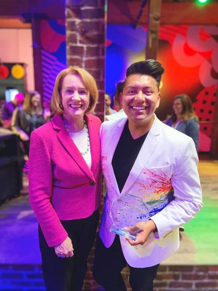 Ray Corona, Executive Director of Somos, with Mayor Jenny Durkan