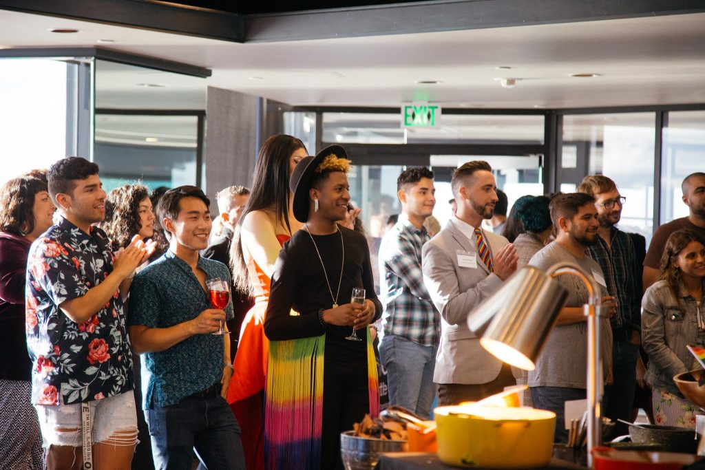 Attendees of Somos Seattle's 50 Years of Pride Celebration, which took place at the Columbia Tower on June 6.